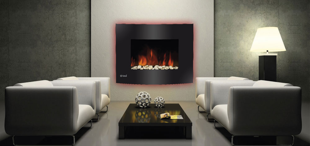 trevidea elektrischer wandkamin led mangiafuoco kaminfeuer. Black Bedroom Furniture Sets. Home Design Ideas
