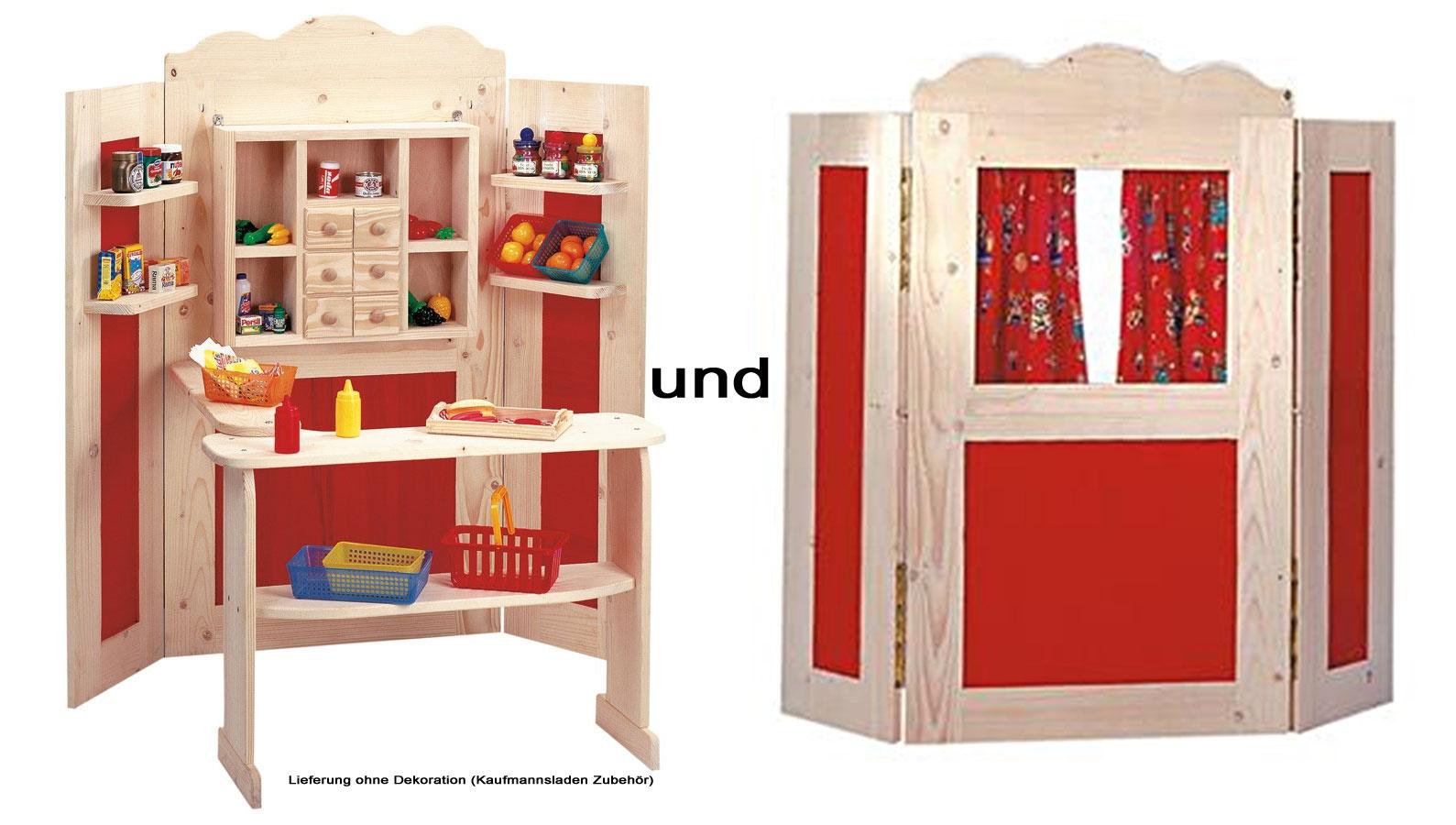 bino set kaufladen und kaspertheater kaufmannsladen von bino