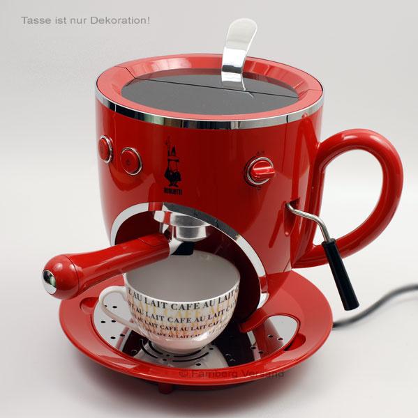 bialetti espressomaschine tazzona cappuchino neu rot. Black Bedroom Furniture Sets. Home Design Ideas