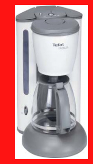 tefal kaffeemaschine cm 4151 kaffeeautomat ice white. Black Bedroom Furniture Sets. Home Design Ideas