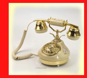 Telmar Wählscheibe Telefon Keramik Avorio beige Ceramica