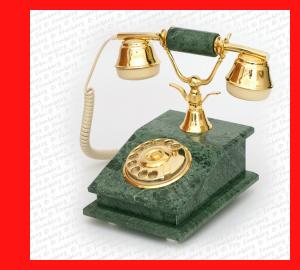 Telmar Nostalgie Telefon Marmor mit Wählscheibe Modell Verde Issoria