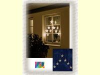 Bild für KONSTSMIDE LED Sternvorhänge außen Fensterdekoration
