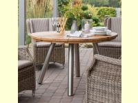 Bild für deVries Runder Gartentisch Fjord im Set mit Sessel Eden