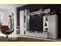 Bild für TrendTeam Wohnwand 101W4 weiß 4teilig incl. Beleuchtung Set 1508