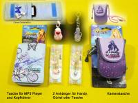 Bild für Im Set 4 Teile Mp3 Playertasche mit Kopfhörer, Kameratasche + 2 Anhänger Set 1