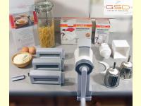 Bild für GSD Nudelmaschine Pastamaker im Set Getreidemühle, Gemüsereibe Made Germany