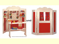 Bild für Bino Set Kaufladen und Kaspertheater Kaufmannsladen von Bino Holzspielzeug