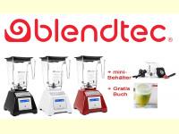 Bild für Blendtec Standmixer Total Blender in 3 Farben Set mit Mini Behälter