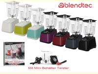 Bild für Blendtec Standmixer Designer 625 schwarz im Set Rezeptbuch + Twister Jar