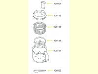 Bild für Solac Ersatzteile Potato Chef Kartoffelreibe N201