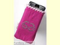 Bild für Im Set Glamour Chic Tasche mit Strasssteinen für Handy und MP3